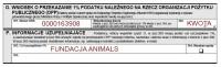 1% - Fundacja Animals, PIT36